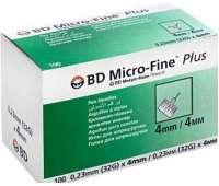 Иглы инсулиновые для шприц-ручек BD Micro-Fine Plus 4 мм, 100 шт