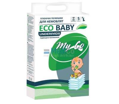 Пеленки одноразовые впитывающие 60*90 MyCo Eco Baby 5 шт купить