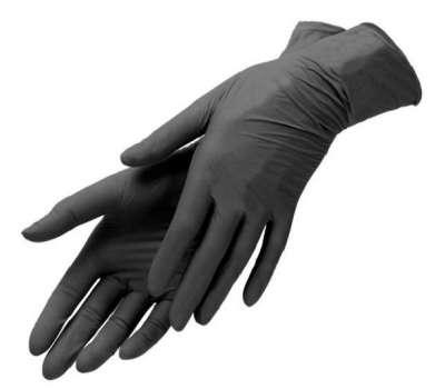 Перчатки черные нитриловые 100 шт MP медицинские смотровые