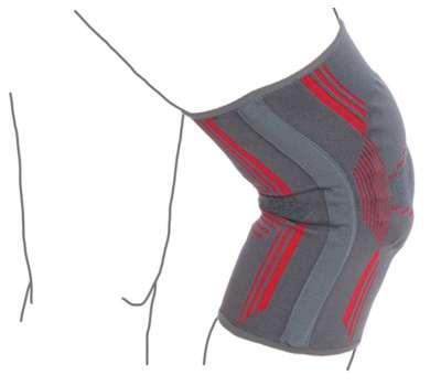 Бандаж на коленный сустав вязаный эластичный Remed R6104 с резиновым кольцом и ребрами купить в медтехнике Николаев