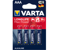 Батарейки Varta Longlife Max Power Alkaline АAА,LR03|1.5v, минипальчиковые