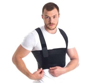 Бандаж для фиксации грудной клетки мужской пористый Торос 155-Ч купить